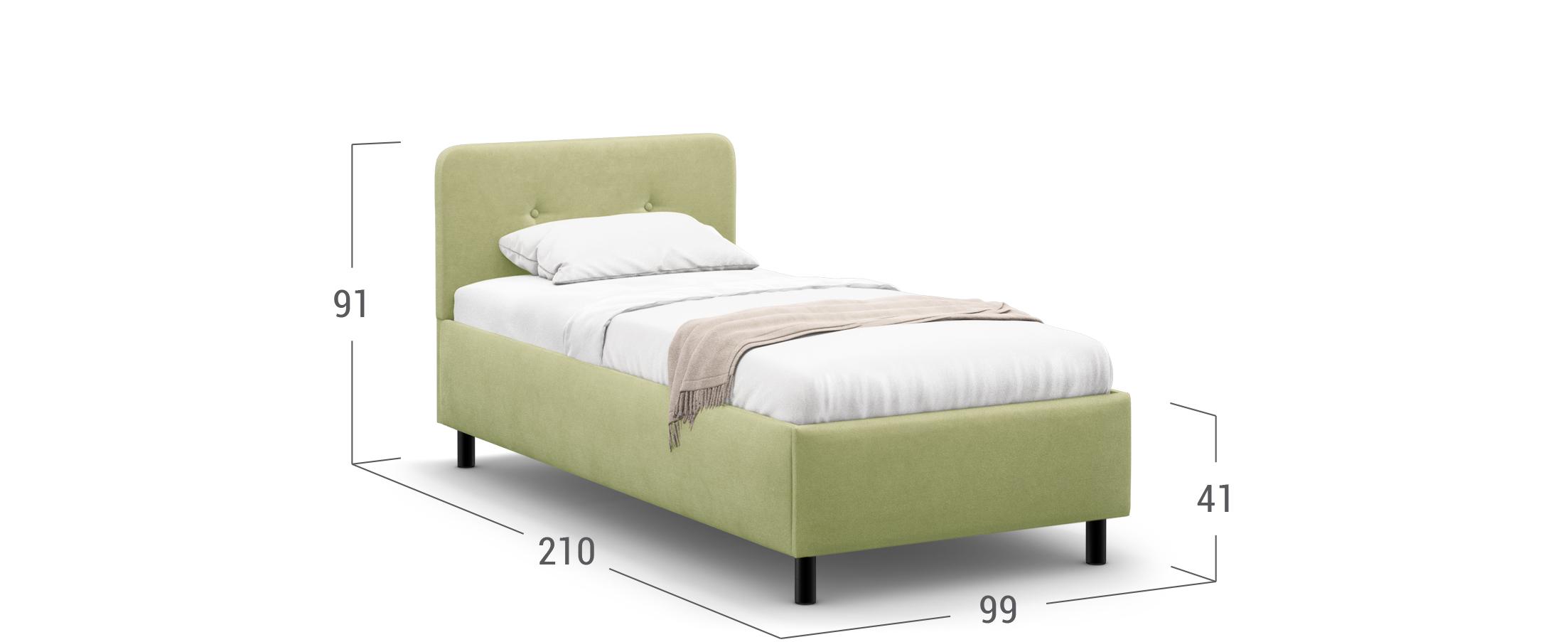 Кровать односпальная Clarissa 90х200 Модель 1232